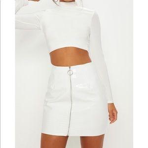 PLT Croc Mini Skirt